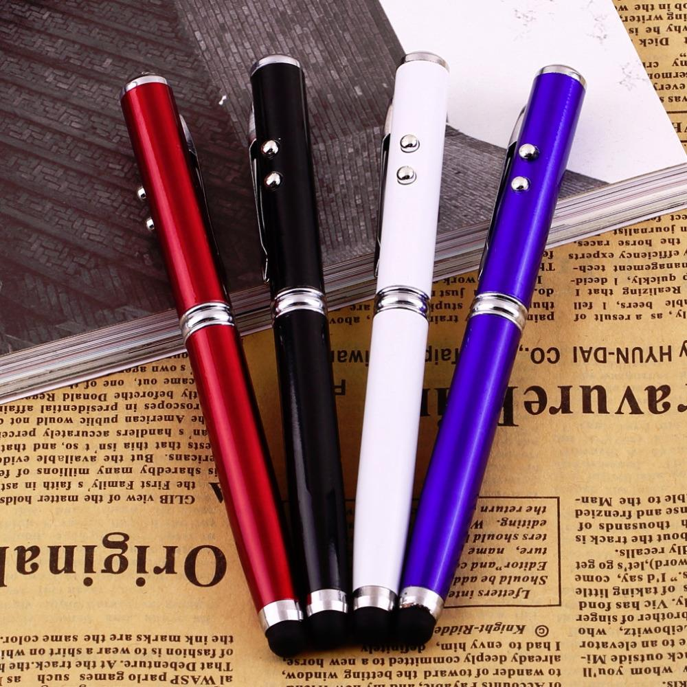 4 in 1 Laser Pointer LED Torch Touch Screen Stylus Ball Pen for iPhone Brand Wholesale(China (Mainland))
