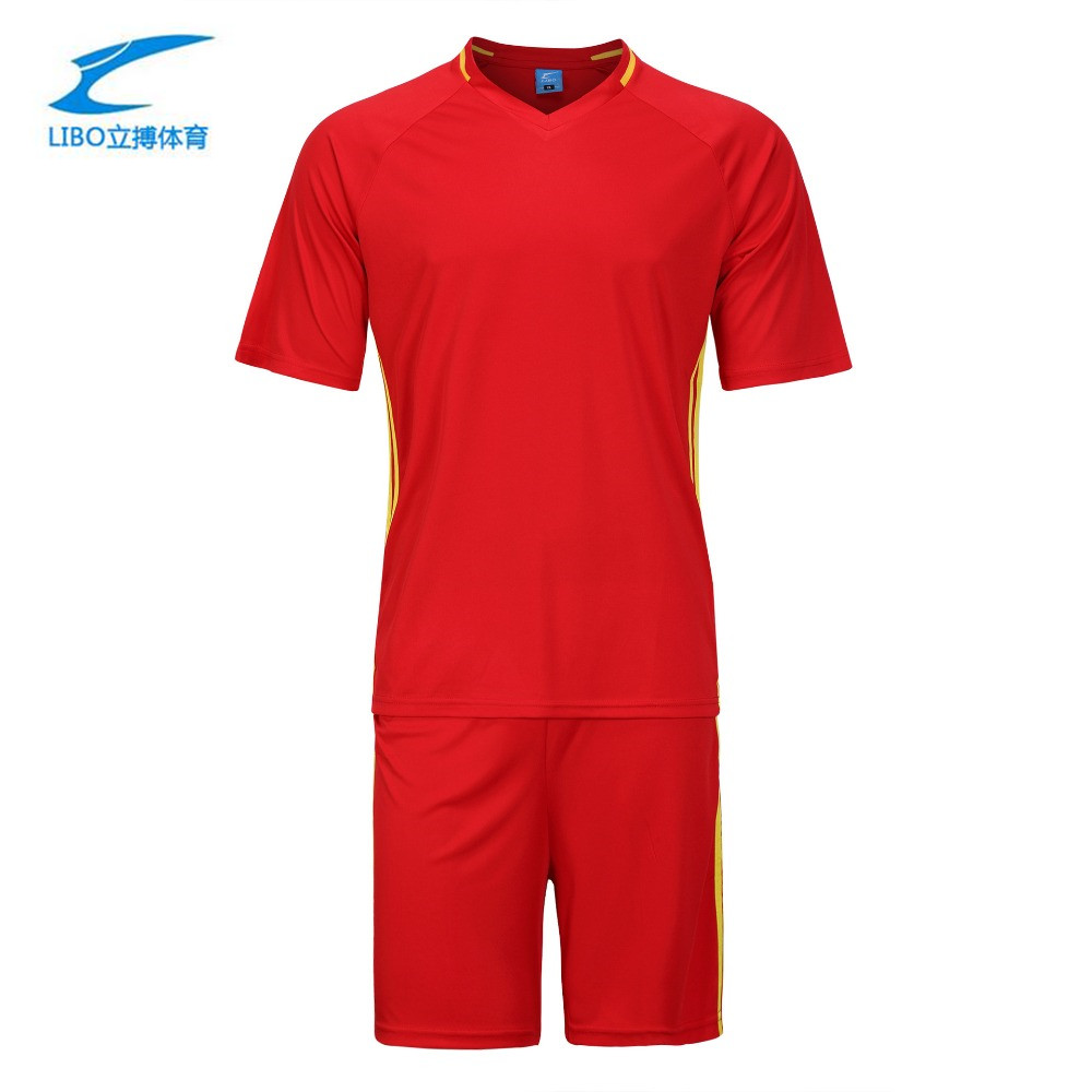 Genuine vertical stroke 2016 new adult football training uniforms match Jersey printing shop group purchase(China (Mainland))