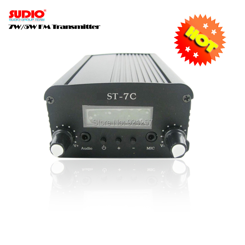 FM 1w/7w stereo PLL FM broadcast transmitter for radio station whosesales Free shipping(China (Mainland))