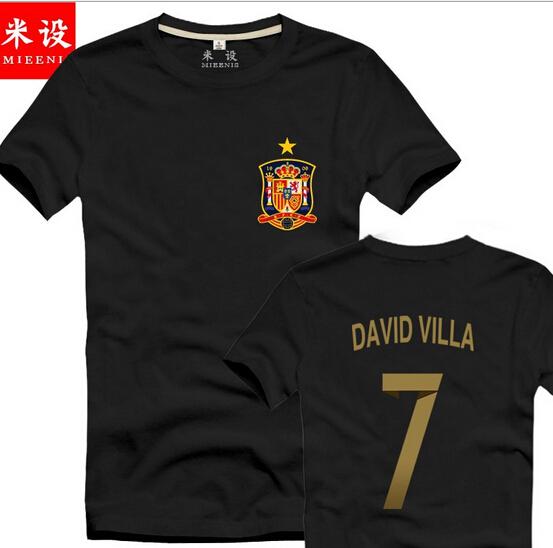 David Villa Spain Jersey 2014 Shirt 7 David Villa Spain