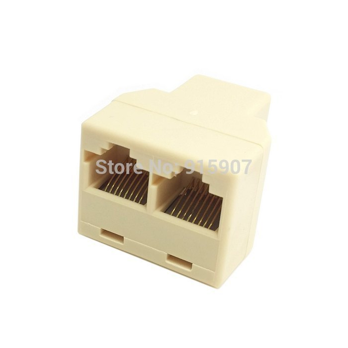 CY RJ45 8 Pin 8P8C Plug To 2 RJ45 Splitter Network Ethernet Connecter Patch Cord Adapter(China (Mainland))