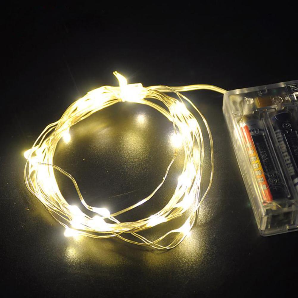 TSLEEN DC 4.5V, 3 X AA battery Powered LED Strip 20-100 LEDs Silver Wire Starry Light Shop/Garden/Gate/Kursaal/Bar Adorns