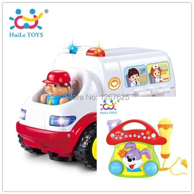 Brinquedos Bebe Eletronicos Learning Toys Ambulance Music Jukebox Free Shipping Huile Toys 836 & 668(China (Mainland))