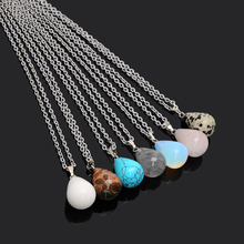 Buy New Trendy Water Drop Charm Necklaces &Pendant Natural Opal Crystal Stone Pendants Necklace Women Fashion Jewelry for $1.13 in AliExpress store
