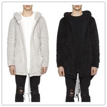 Buy Brand Design flannel SO Soft Comfortable Woman Men Hoodies coat Hooded Hight Street Punk Dark Style Man cloak Long Black outwear for $39.75 in AliExpress store