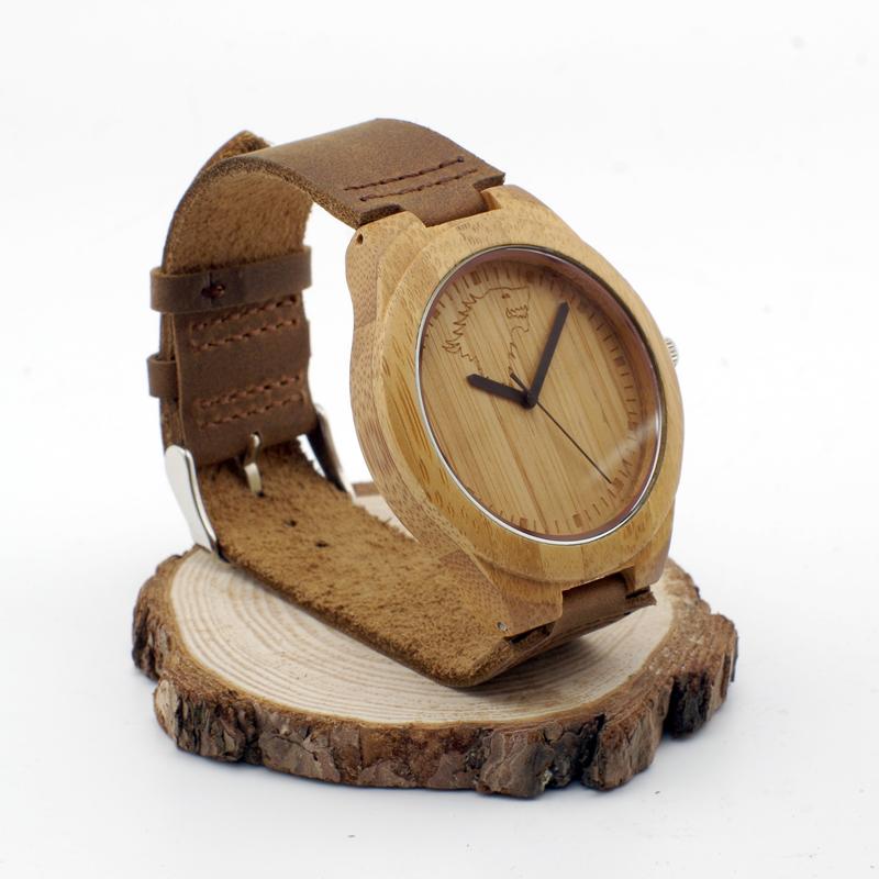 W00-wf тотем волка в зима приходит волк дизайнер бамбук дерево наручные часы красивый Luxulry марка деревянные бамбука часы