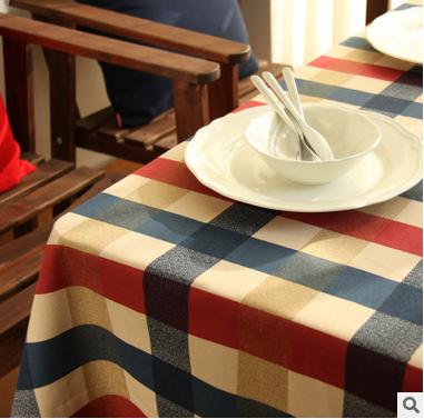 Ou shigu grid of Edinburgh home/wedding banquet table cloth Cotton printed cloth table free shipping(China (Mainland))
