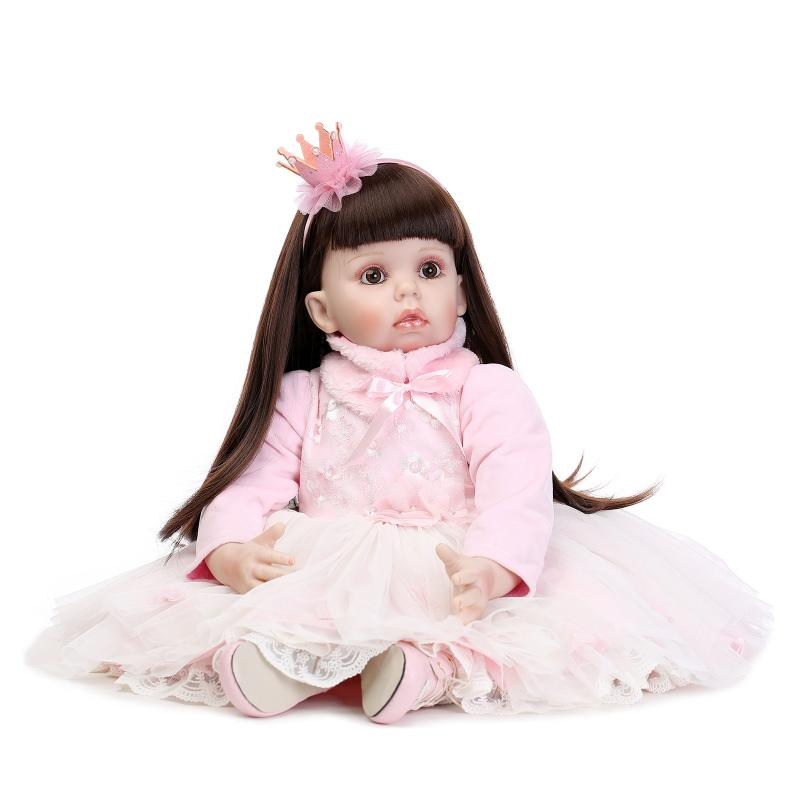 "28"" 72CM Reborn Baby dolls real princess Girl toddler doll for girls toys gift baby clothing model oyuncaklar(China (Mainland))"