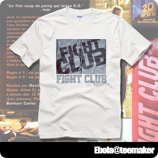 name logo fight club couple clothes man sport short-sleeve T-shirt(China (Mainland))