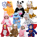 Supre Soft Cute Baby Rompers Spring Autumn Baby Flannel Clothes Cartoon Animal Jumpsuit Baby Girls Rompers