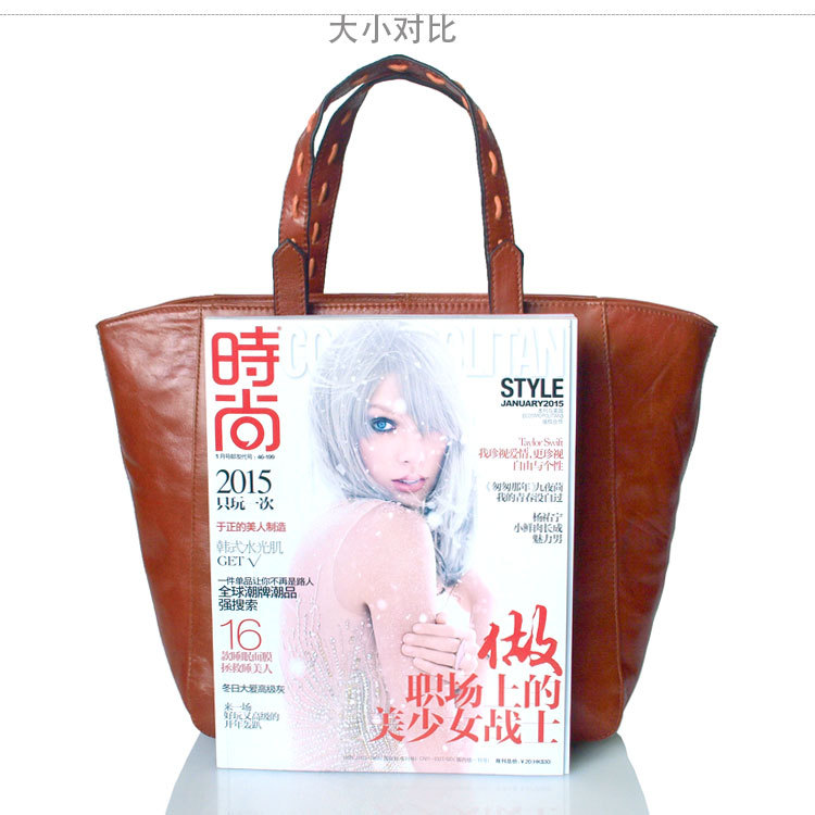 Europe and the United States the new female bag personality layer cowhide rope wear portable baotou Fashion lady wings package<br><br>Aliexpress