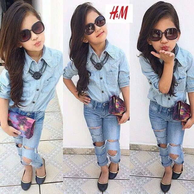 new girls denim clothing set baby kids girls denim shirts+jeans children clothing set 2pcs toddler baby clothes 2015 fashion(China (Mainland))