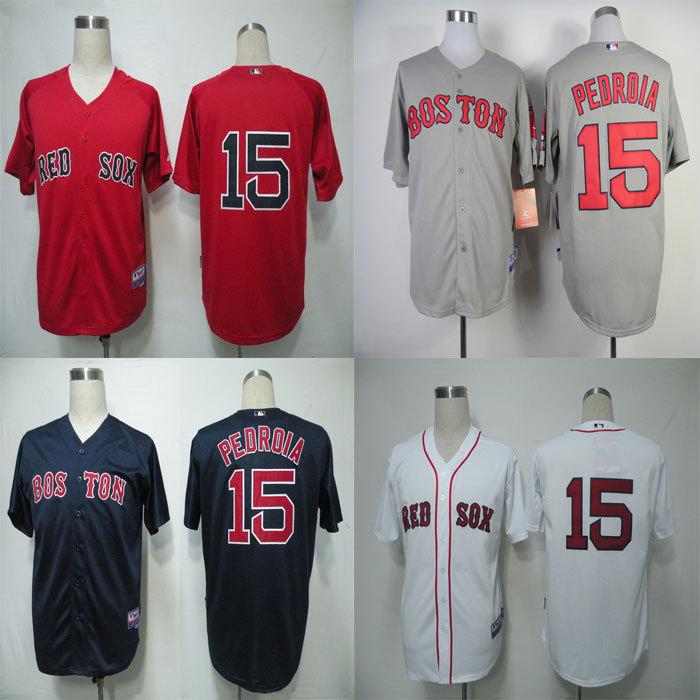 #15 Dustin Pedroia Jersey Boston Red Sox Jersey Embroidery Logo Sports Sportswear Baseball Jerseys Free Shipping(China (Mainland))