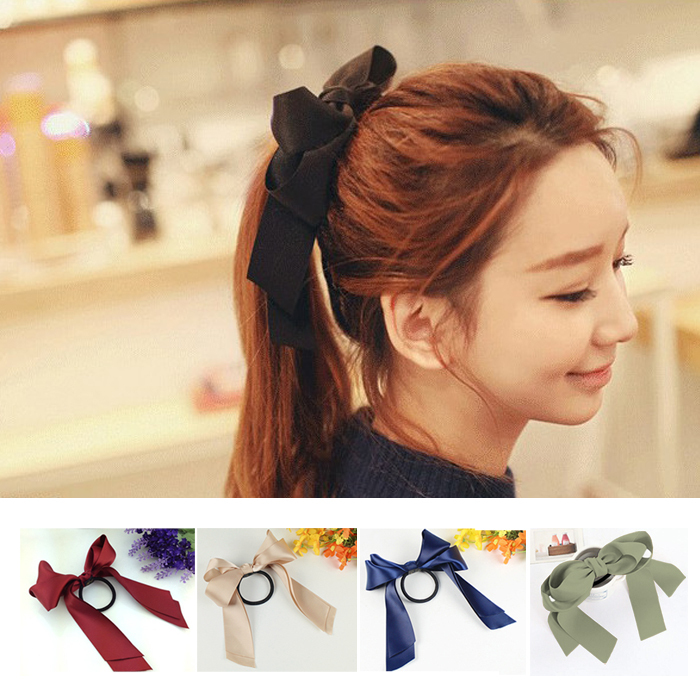 2014 New Nice Hair Accessories Ribbon Bowknot Elastic Hair Band for WomenОдежда и ак�е��уары<br><br><br>Aliexpress