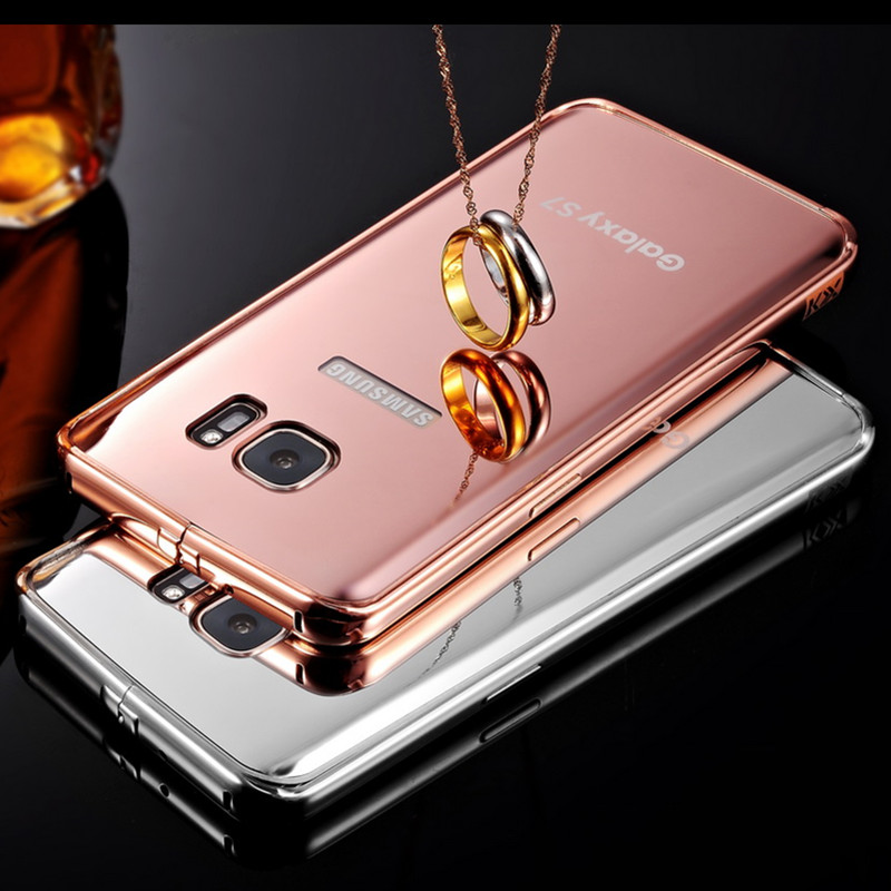 "For Galaxy S7 Luxury Gold-Plating Mirror Case PC Back Coque Cover For Samsung Galaxy S7 G9300 5.1"" Cell Phone Cases(China (Mainland))"