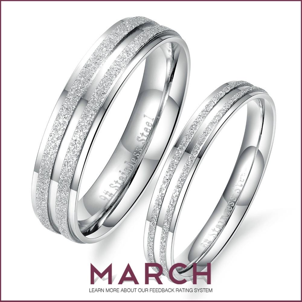 march creative black titanium steel wedding rings creative