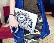 2015 JOY SHOP New handbag bright printing MM Single Shoulder Bag Messenger all-match casual chain bag - 2013 store