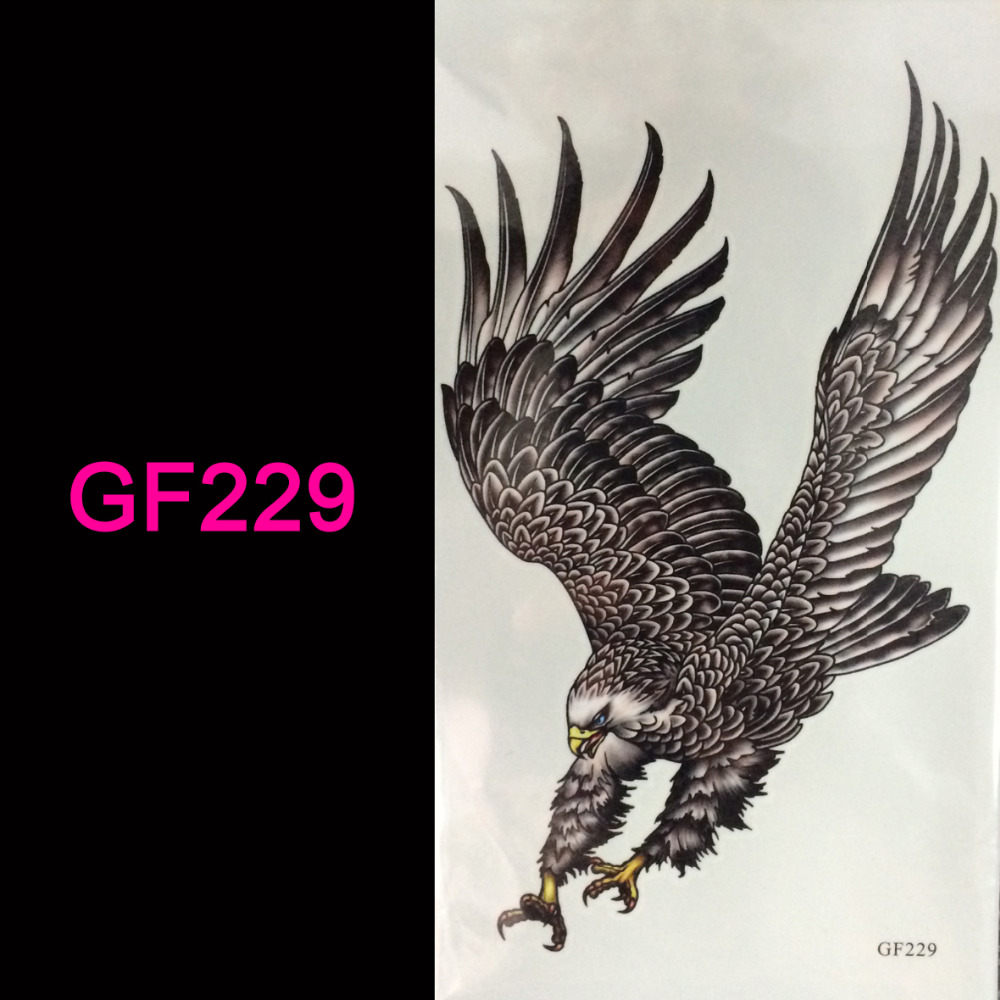 wholesale hot 3d tattoo Flash tattoos women arm temporary tattoo eagle body art sticker sex products
