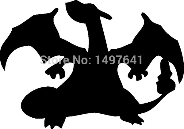 50 pcs/lot Charizard Pokemon Funny JDM sticker Car Rear Windshield Truck Bumper Laptop Anime Video Game Vinyl Decal 8 Colors(China (Mainland))