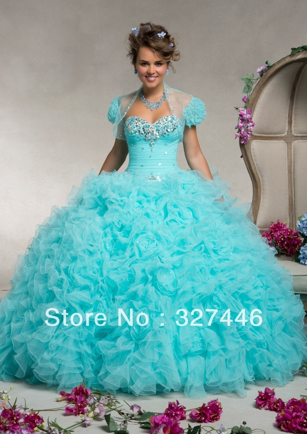 Quinceanera Dresses 2014 Mint Lovely sweethea...