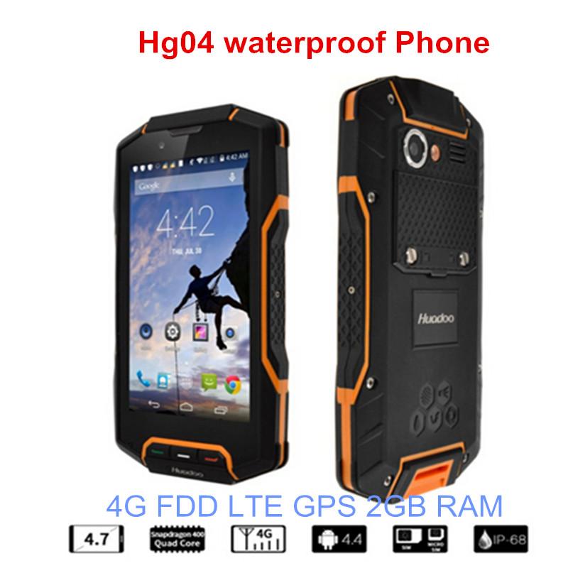 Original Huadoo HG04 IP67 Rugged Waterproof Shockproof Smartphone Quad Core 2GB 16G 4G FDD LTE Phone Android4.4 GPS 5s(China (Mainland))