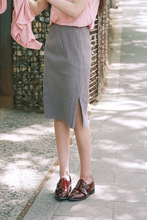 2016 Spring Summer Skirts Women Gray Black High Waist Midi Lenght Tight Skirt Pencil Skirts Elegant Womens Office Skirts