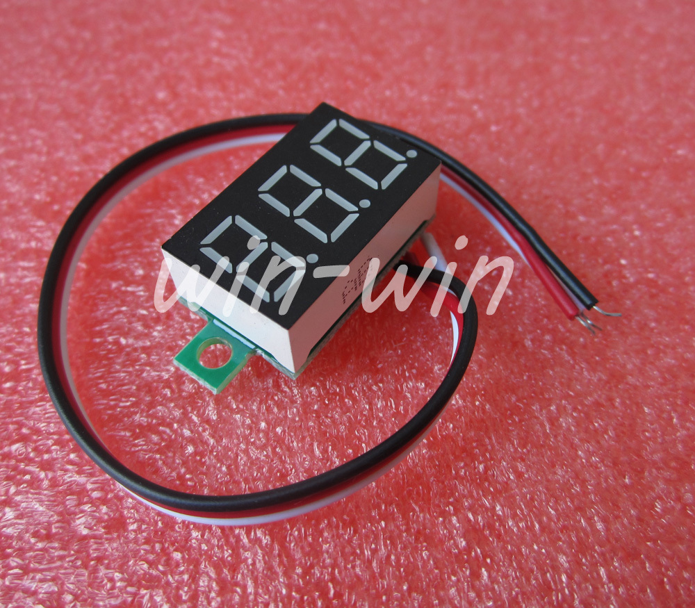 1pcs three wire 0 36 blue LED DC Digital Voltmeter Panel Meter DC 0 32V