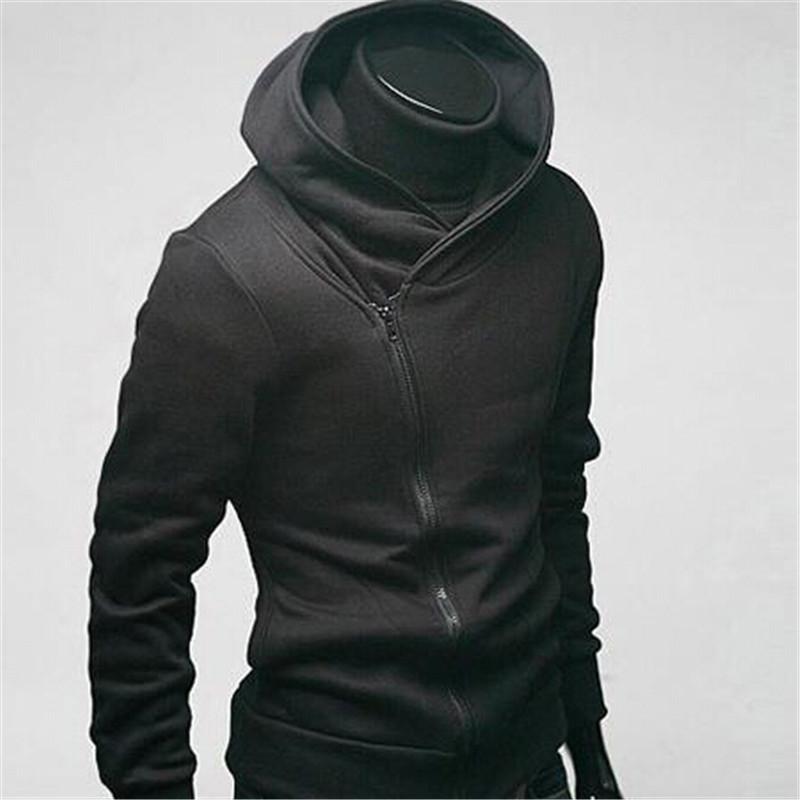 Hoodies Men 2015 New Sweatshirt Thin Casual Solid Regular