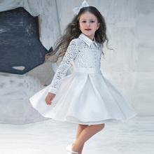 Vestidos De Comunion 2016 Lace Kids Evening Gowns Cheap Flower Girl Dresses For Weddings Princess Pretty Little Girl Prom Dress