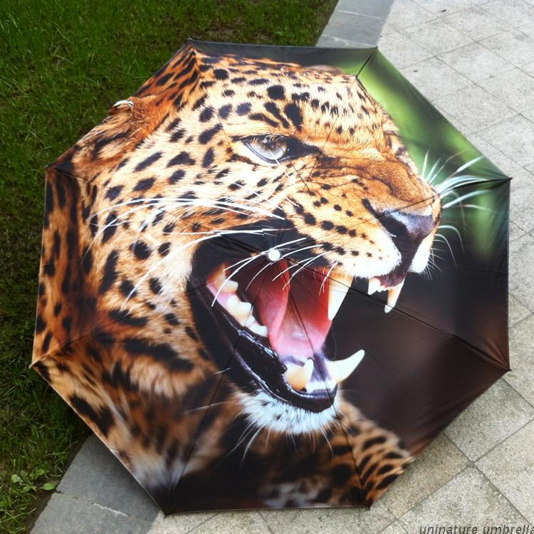 Free shipping uv umbrellas for man three folding umbrella charm sun & rain umbrella rain women Animal umbrellas(China (Mainland))
