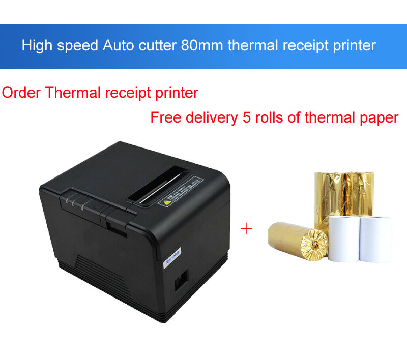 Original 80mm Cutter Small ticket printer pos printer Thermal Printer Kitchen Printers with Parallel+Serial Ports+Ethernet(China (Mainland))