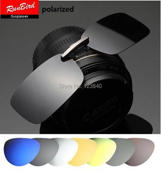 hot sale Mirrored Polarized Clip Driving Clip Men Coating Myopia Clip on SunGlasses sg095