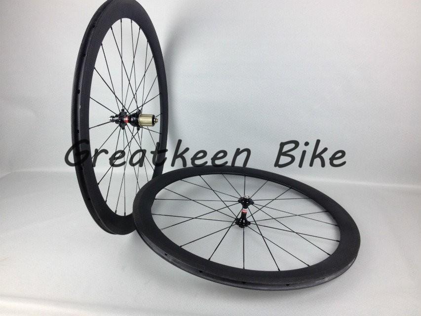 greatkeenbike 50 мм laufräder drahtreifen-laufradsatz mit Новатек набэ 3k glänzend kohlenstoff räder mit malerei, radfahren räder
