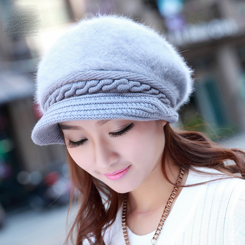 Гаджет  Winter Hats for Women 2015 New Fashion Berets Skullies Beanies Warm Knitted Cap Solid Hat Gorros for Girl Rabbit Hair Hat Winter None Одежда и аксессуары