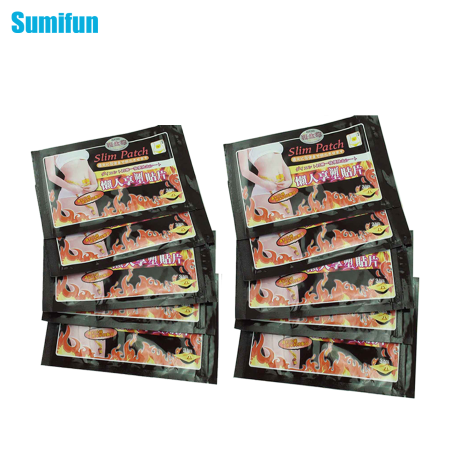 10 Pcs Sumifun Thinness Slimming Patch Weight Loss Anti-Cellulite Massage Fat Burning Medicated Plasters Beauty C021