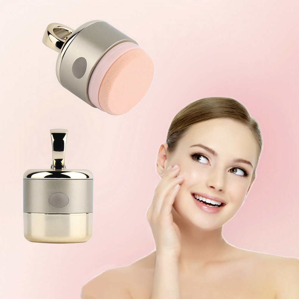 wholesale 3D Electric Smart Foundation Face Powder Vibrator Puff Sponge Cosmetic Beauty Spa Tool 2016 Hot(China (Mainland))