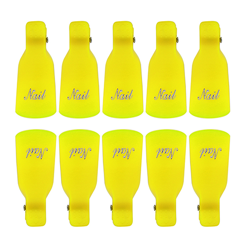 10Pcs Plastic Acrylic Nail Art Soak Off Clip Cap UV Gel Nail Polish Remover Wrap