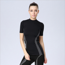 Highly elastic women s fitness sports quick dry short sleeve t shirt women sport exercise clothes