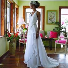 Alice Recommend 2017 Beach Elegant Chiffon Halter wedding dress Bridal Gowns vestido de festa(China (Mainland))
