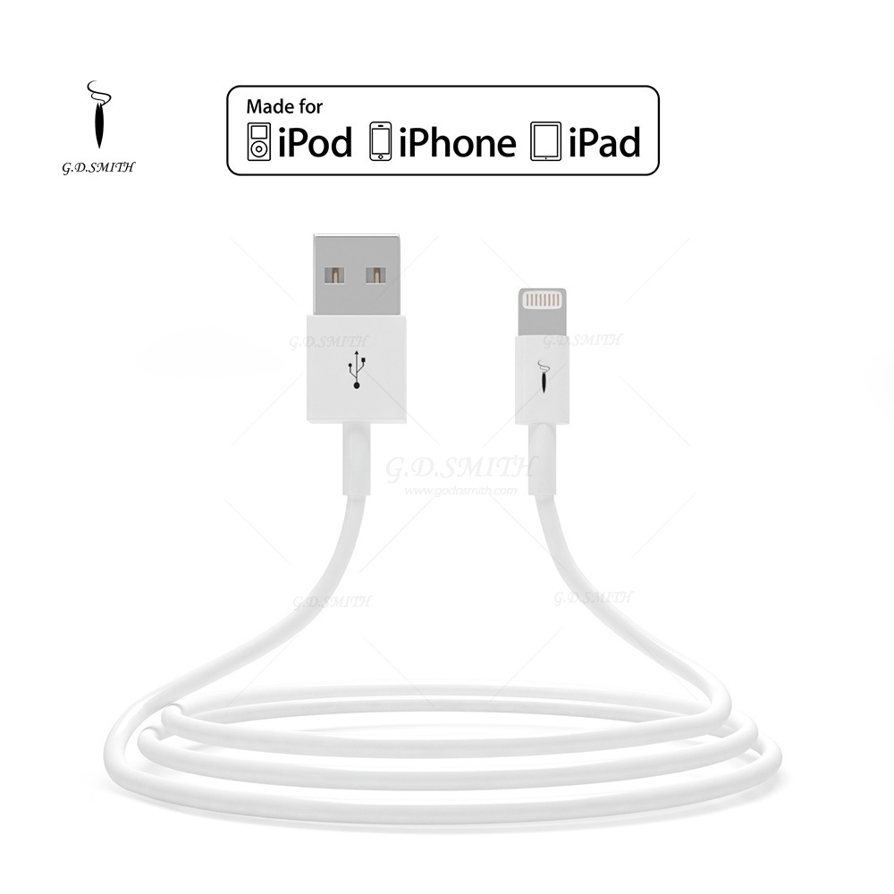 MFI 2.0 USB Cable for iPhone 5 5s 6 6s 6 Plus 1m Long High Frequency Charger Cables G.D.SMITH Brand Original 2015 New(China (Mainland))