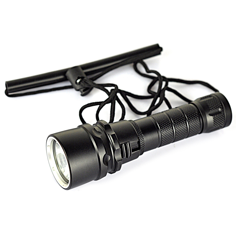 New XML XM-L L2 LED Lanterna 1000 Lumens Diving Flashlight Torch Waterproof Underwater Torch LED Light (by 1* 18650 battery)