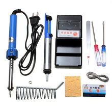 9 in 1 Electric Soldering Tools Set With Iron Stand Desolder Pump