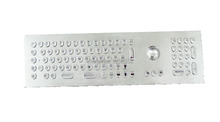 Metal Keyboard with trackball and numeric keypads, Stainless steel keyboard with Indukey InduSteel Keyboard keycap shape(China (Mainland))
