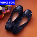 WRCIBOR Super Soft Women Loafers Slip On Spring Flats Shoes Woman Ladies Moccasin Spring Summer Style