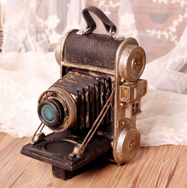 Retro Camera Vintage Home Decor Resin Crafts Antique Home