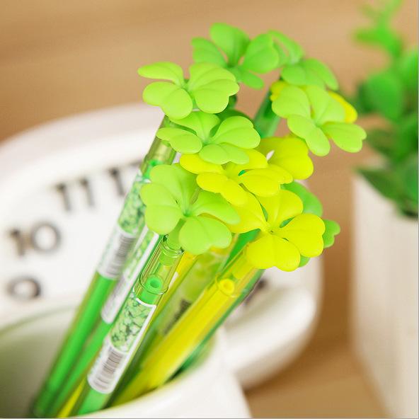 20pcs/lot Clover Japan and South Korea stationery creative gel pen gel pen dust plug Diamond Head office school stationery whole<br><br>Aliexpress