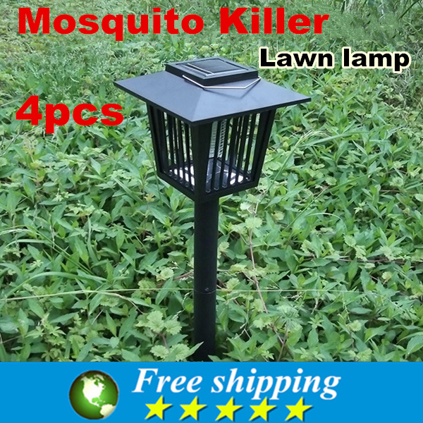 2015 High quality New Solar Mosquitoes Insect Pest Bug Killer Repellent Lamp LED Light,IP55 corridor lights,Free shipping .X4<br><br>Aliexpress