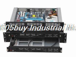 Top 2u430 dual motherboard computer case smoke gemini(China (Mainland))