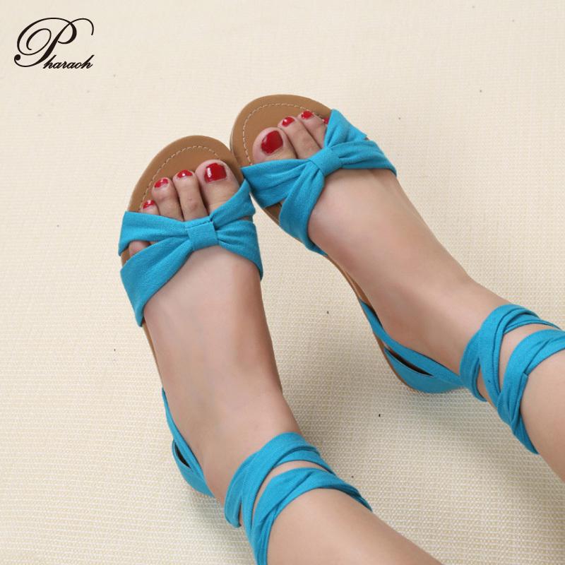 Гаджет  Fashion casual flat women sandals 2015 women sandal summer shoes Blue cross tied clothe fabric  None Обувь