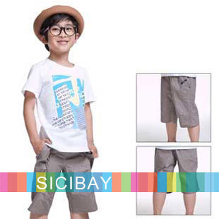 Boys Casual Shorts Kids Summer Cotton Trousers Children's Summer Leisure Wear,Free Shipping  K1594